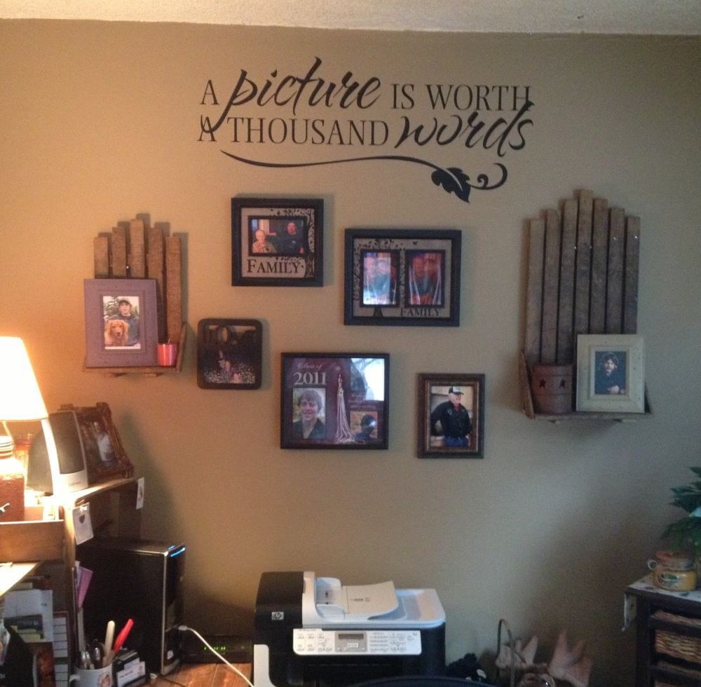 Decorate your walls with words todays work at home mom for Decoration word