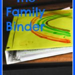 Work From Home Organization: The Family Binder
