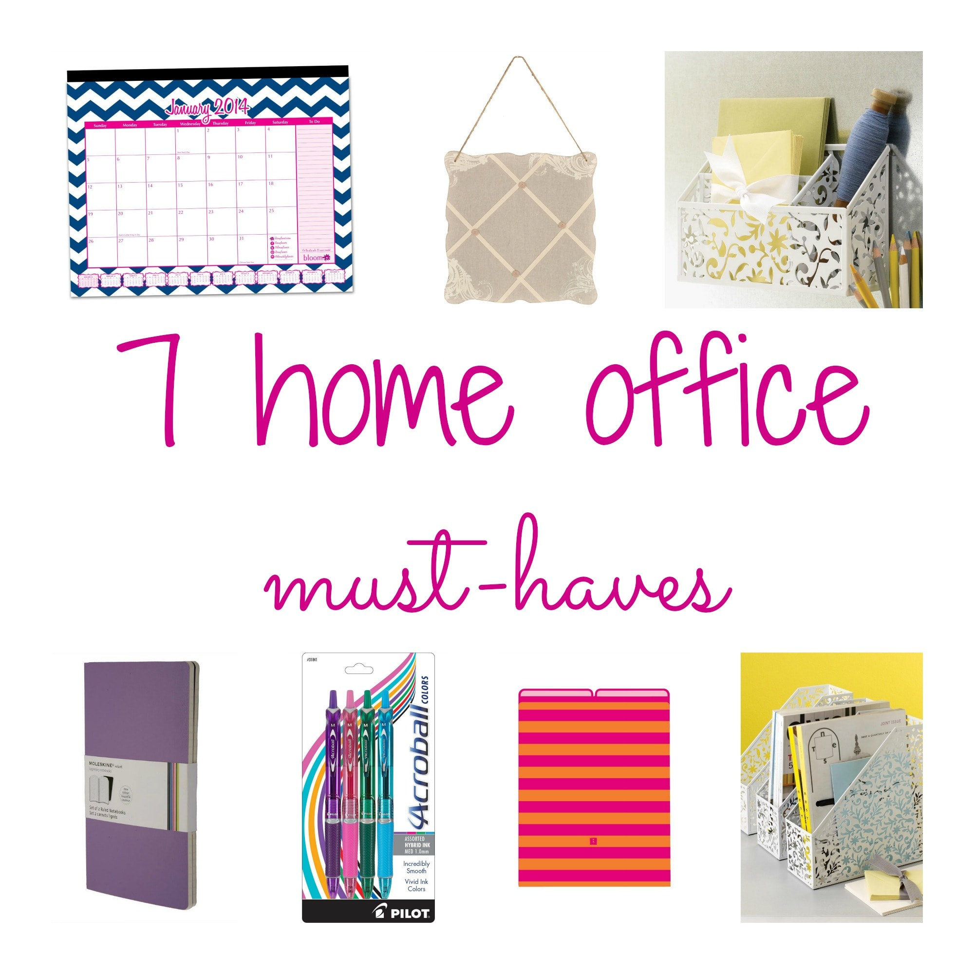 stay organized with home office accessories - todays work at home mom