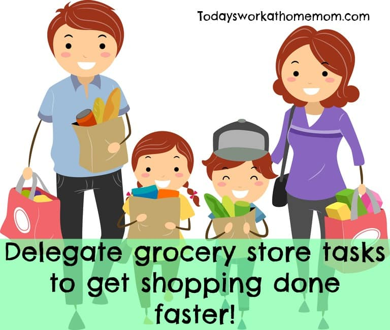 Delegate grocery store tasks to get the shopping done faster!