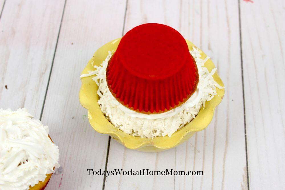 Coconut Snowmen Cupcakes 3