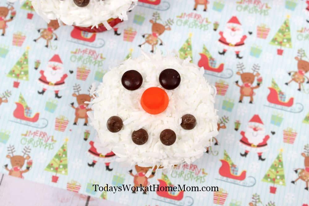 Coconut Snowmen Cupcakes 5