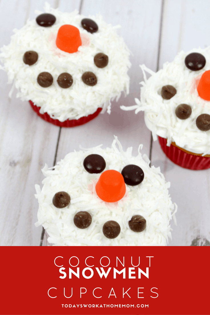 Celebrate the holidays with these coconut snowmen cupcakes. They are almost as fun to make with your family as they are to eat together.