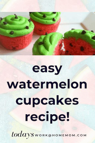 Easy Watermelon Cupcakes Recipe - Birthday Party Ideas! 1