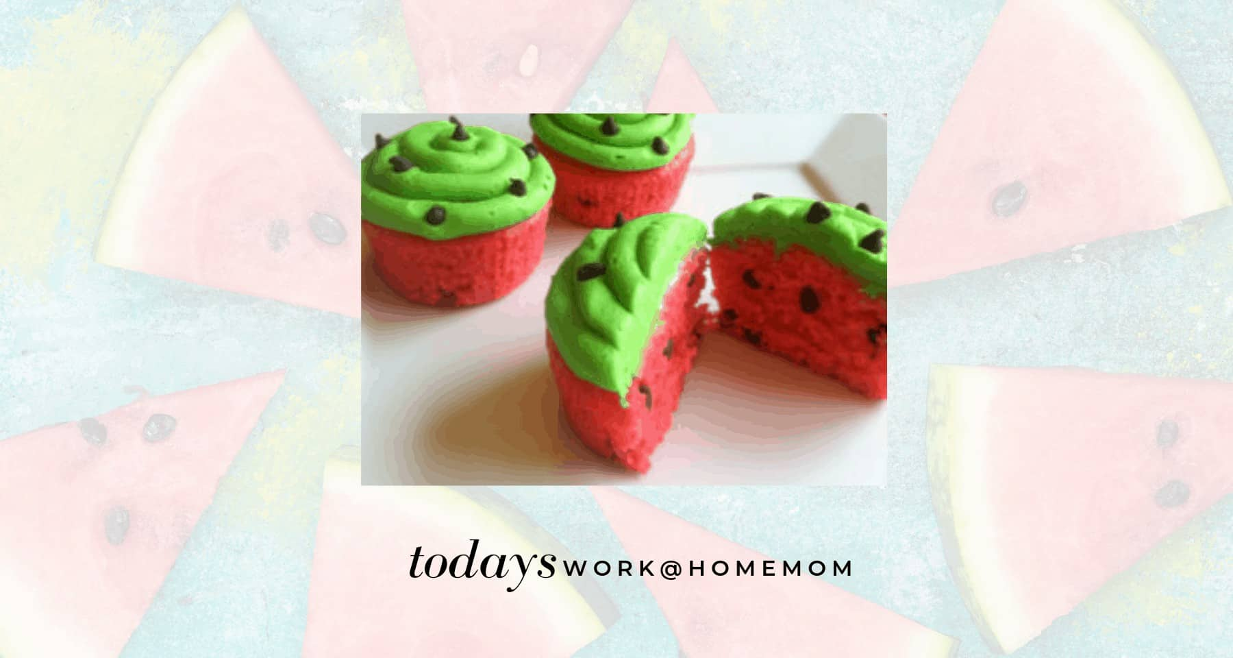Watermelon Cupcakes Recipe