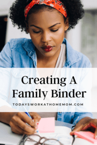 Family Binder - Organizing Your Work and Family Calendars