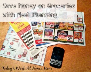 Once a week meal planning and shopping to save on groceries! 1