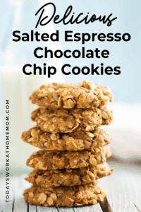 Delicious Salted Espresso Oatmeal Chocolate Chip Cookies