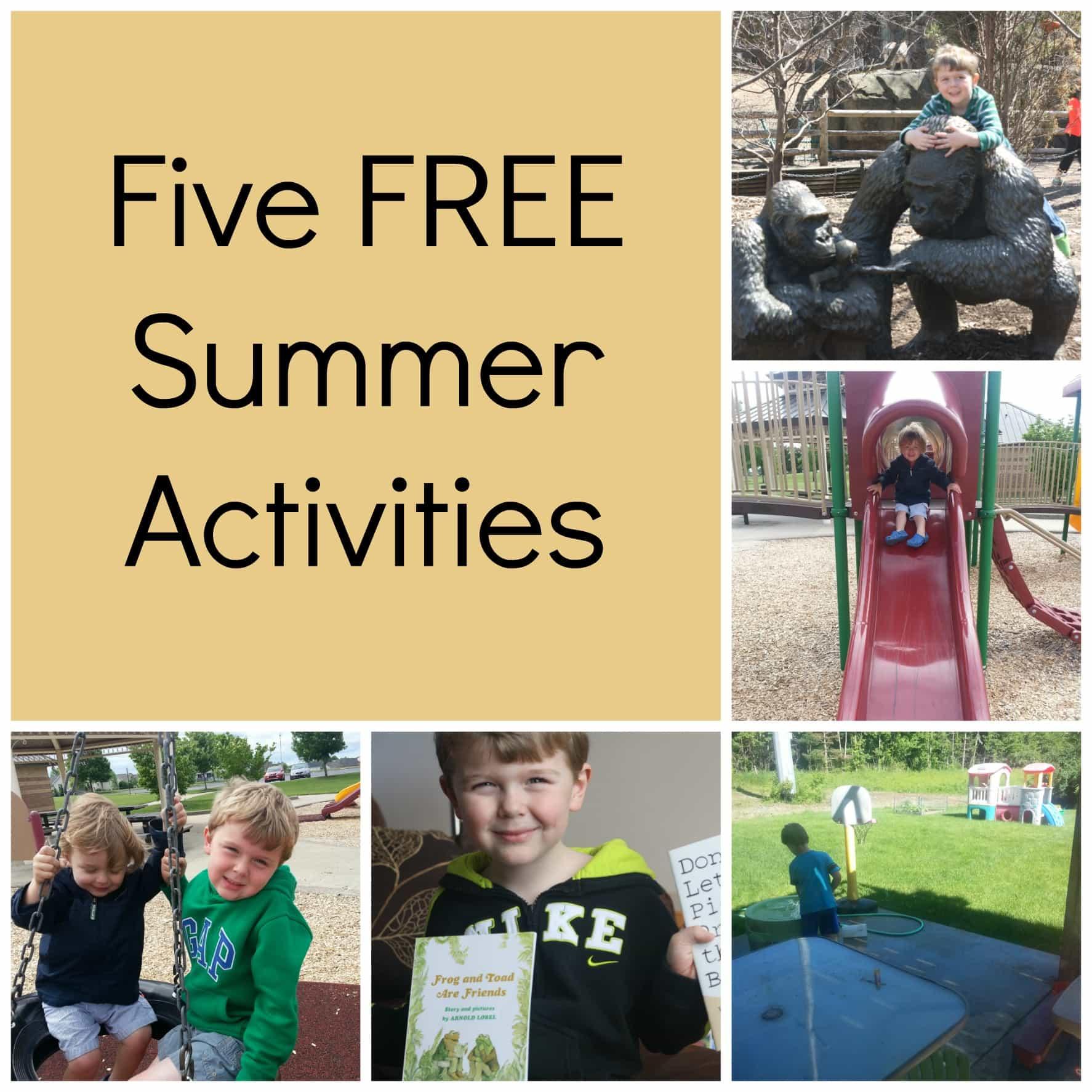 Five FREE Summer Activities 1