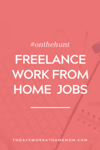 Freelance work from home jobs