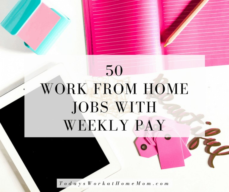 Looking to work at home and get paid weekly? Check out these fifty work from home jobs with weekly pay may be your answer.