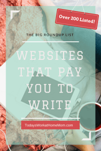 Starting a career in writing or put those writing skills to good use and make extra money? Check out this roundup list of websites that pay you to write.