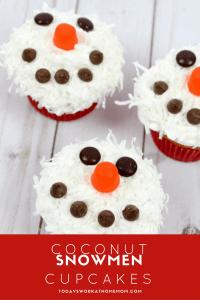 Coconut Snowmen Cupcakes