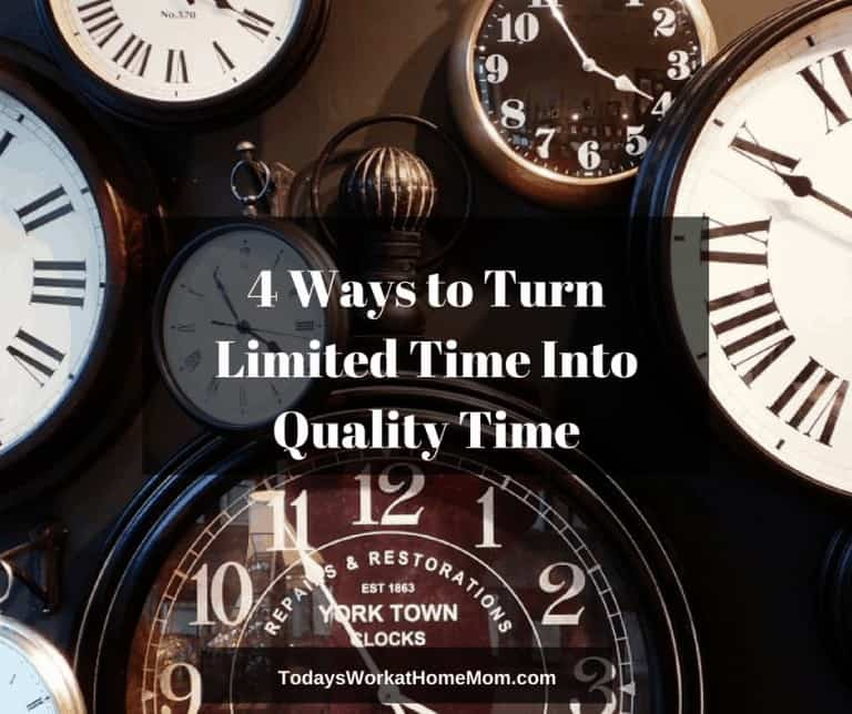 Do you get to spend enough quality time with the people who mean the most in your life? Here's 4 ways you can create quality time out even with a busy schedule.