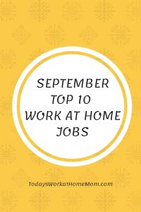 Top 10 Work At Home Jobs Hiring Now