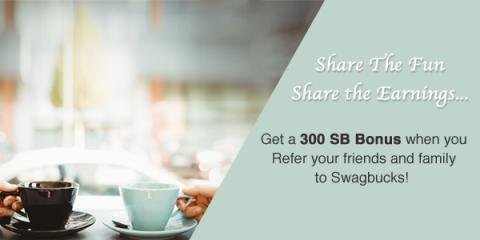 Join Swagbucks in September, Refer and Earn a 300 SB Bonus