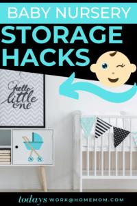 Baby Nursery Storage Hacks small space