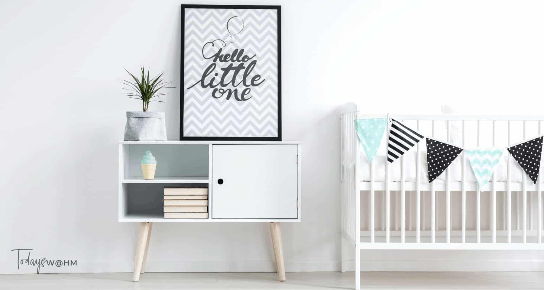 Storage hacks for baby nurseries