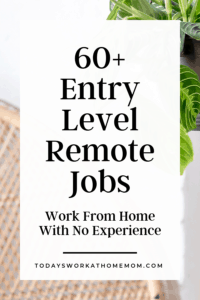 60 entry-level remote jobs Work From Home With No Experience