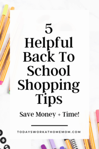 5 Helpful Back To School Shopping Tips For Parents