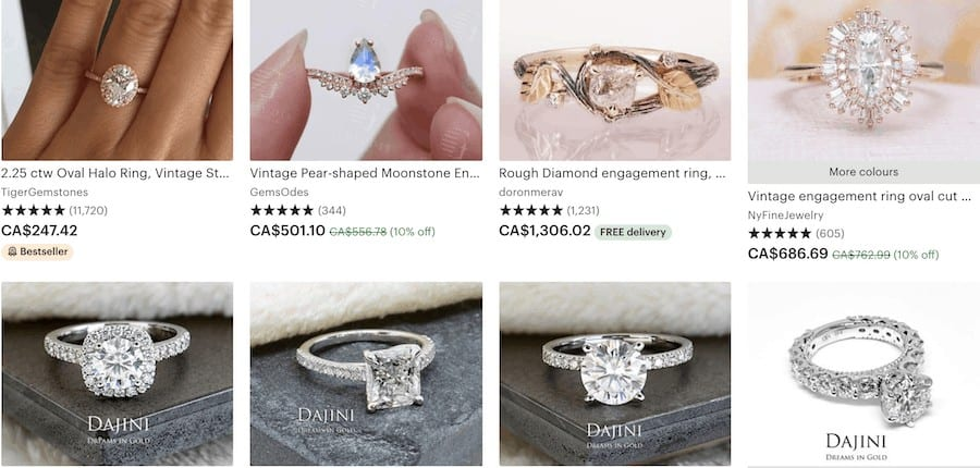 engagement ring shopping tips etsy