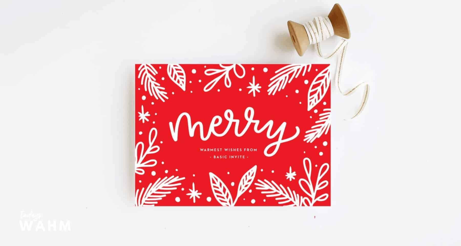 Basic Invite Is Where To Get Custom Holiday Cards