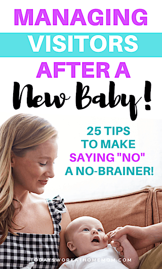 tips for managing visitors after a new baby
